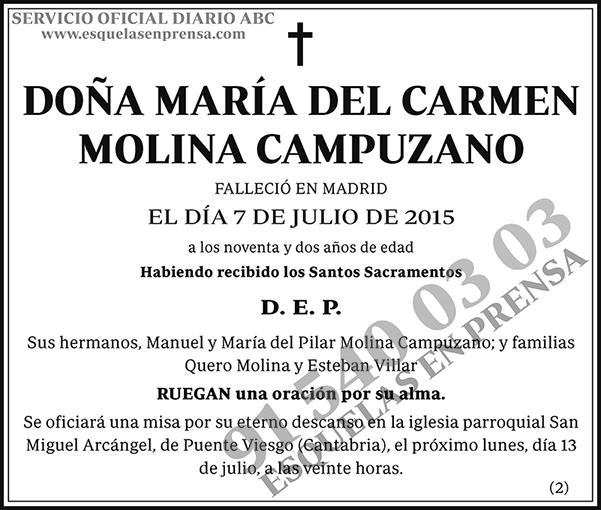 María del Carmen Molina Campuzano